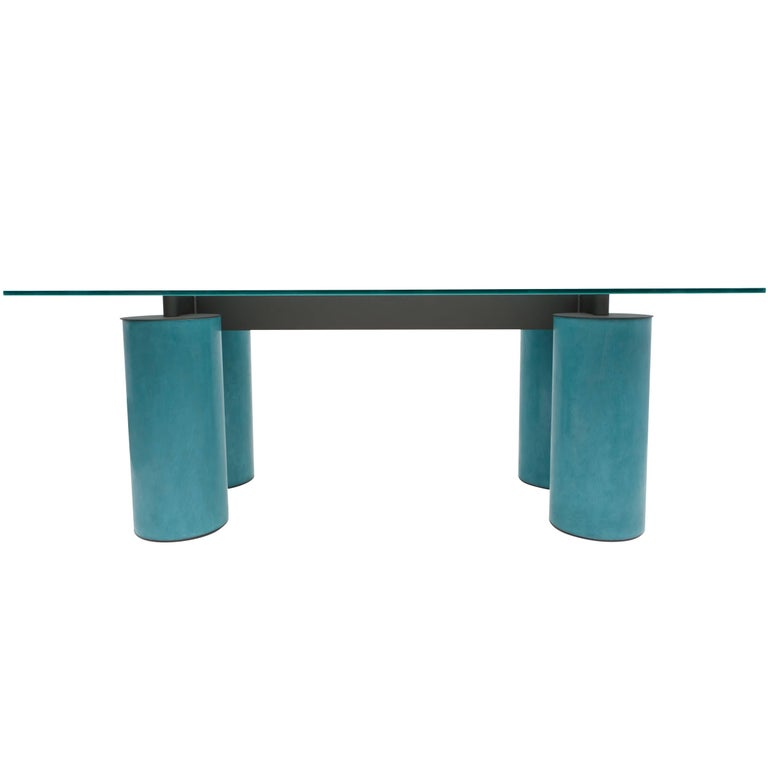 Vignelli for Acerbis Memphis-style Serenissimo table desk, 1970s, offered by Goldwood Interiors