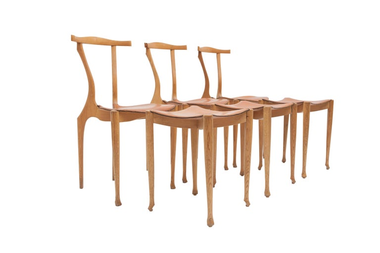 Other Oscar Tusquets 'Gaulino' Oak Chair and Ottoman For Sale