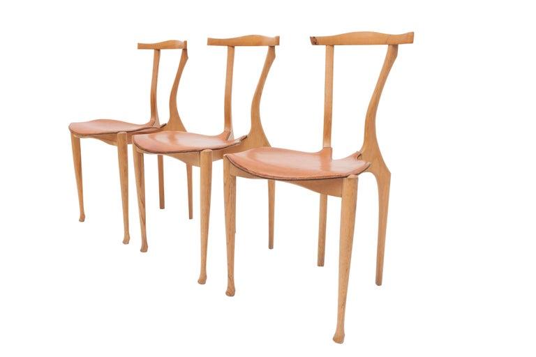 Oscar Tusquets 'Gaulino' Oak Chair and Ottoman For Sale 2