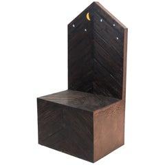 Functional Art by Lorenzini Mid-Century Modern Throne Chair