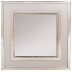 Hollywood Regency Chrome Maison Jansen Mirror