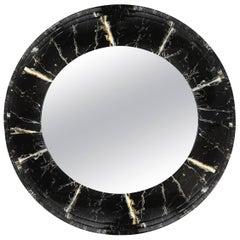 Maison Jansen Marble Lacquer Round Mirror
