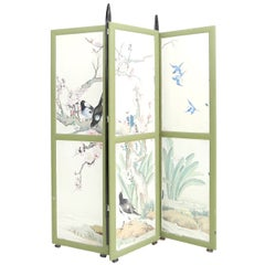 Art Deco Hand Painted Room Divider by Michel De Klerk