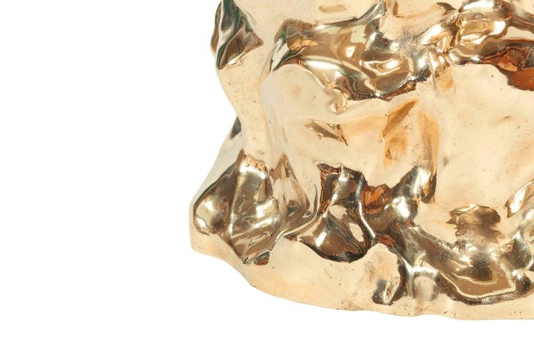 Bronze Sculptural 'Lava' Stool by Studio Goldwood For Sale 2