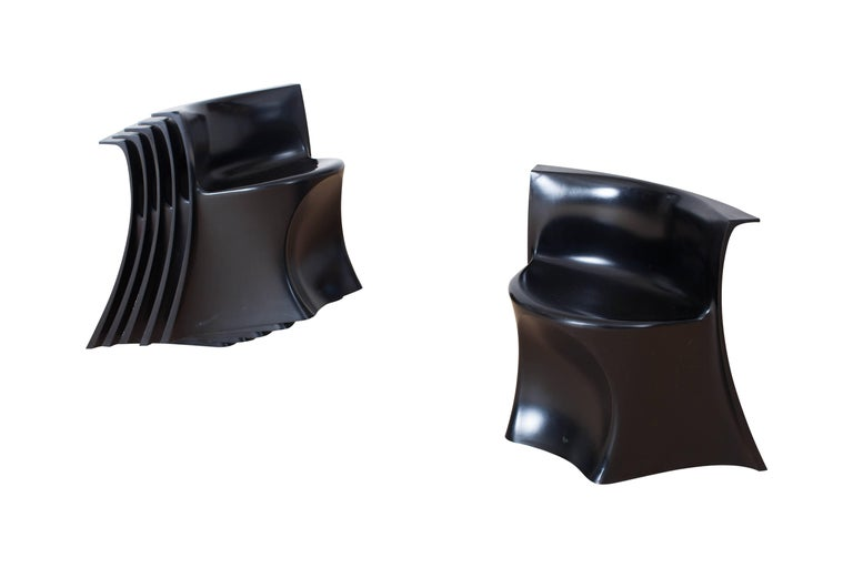 Mid-Century Modern Black 'Boccio' Table and Chairs by Pierluigi Spadolini, 1971 For Sale 4