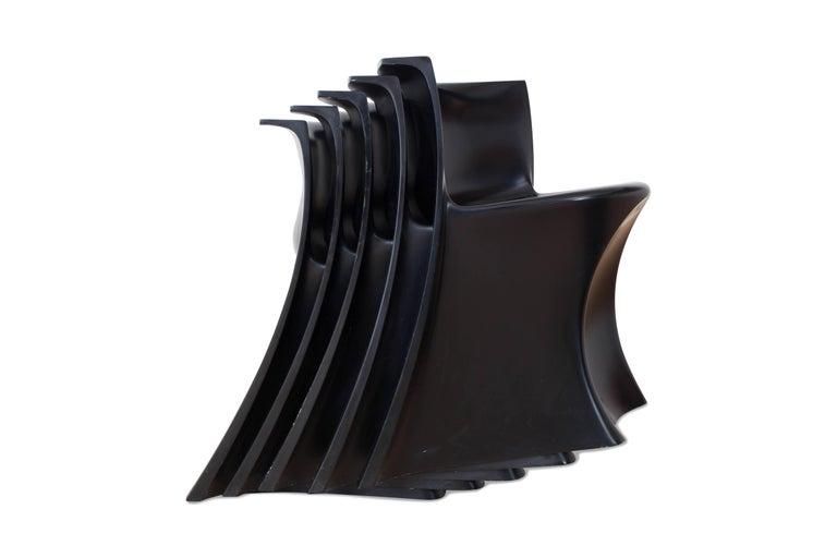 Mid-Century Modern Black 'Boccio' Table and Chairs by Pierluigi Spadolini, 1971 For Sale 5