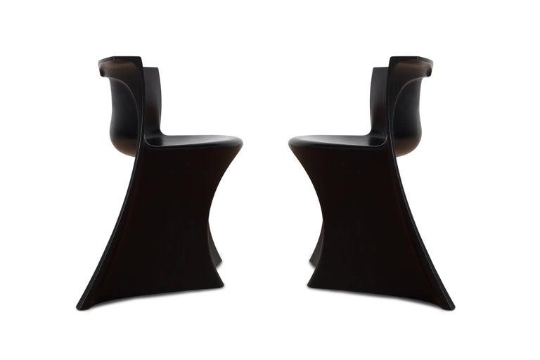 Mid-Century Modern Black 'Boccio' Table and Chairs by Pierluigi Spadolini, 1971 For Sale 8