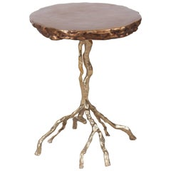 Hollywood Regency Bronze Side Table by Studio Goldwood