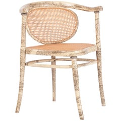 Fornasetti Style Rare Armchair by Thonet