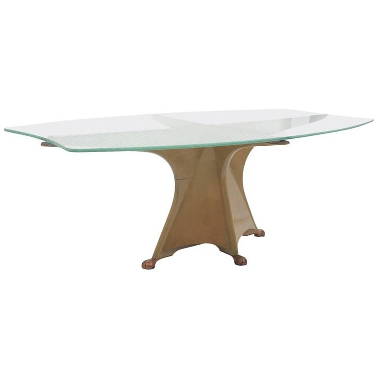 Gaudi inspired dining table by Oscar Tusquets Blanca, Spain, 1985