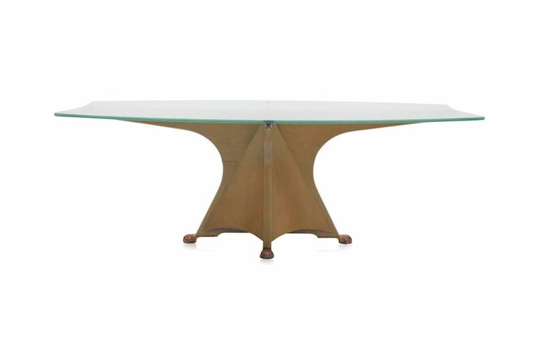 Spanish Postmodern Oscar Tusquets 'Alada' Dining Table For Sale