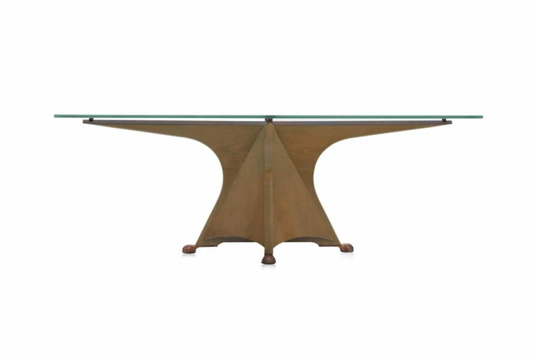 Etched Postmodern Oscar Tusquets 'Alada' Dining Table For Sale