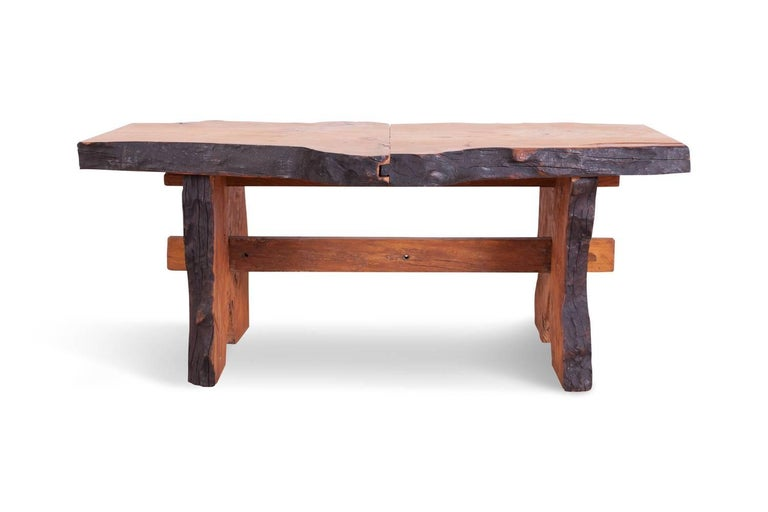 Mid-Century Modern Wabi Sabi Dining Table and Chairs in the Style of Nakashima 1