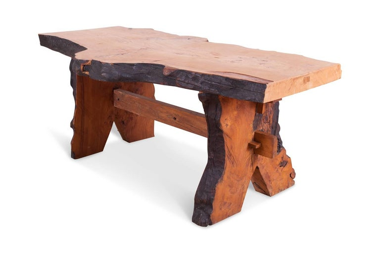 Mid-Century Modern Wabi Sabi Dining Table and Chairs in the Style of Nakashima 2