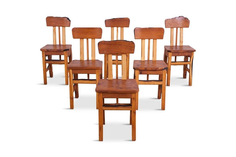 Mid-Century Modern Wabi Sabi Dining Table and Chairs in the Style of Nakashima 6