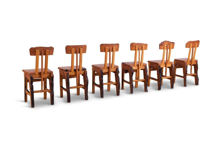 Mid-Century Modern Wabi Sabi Dining Table and Chairs in the Style of Nakashima 8