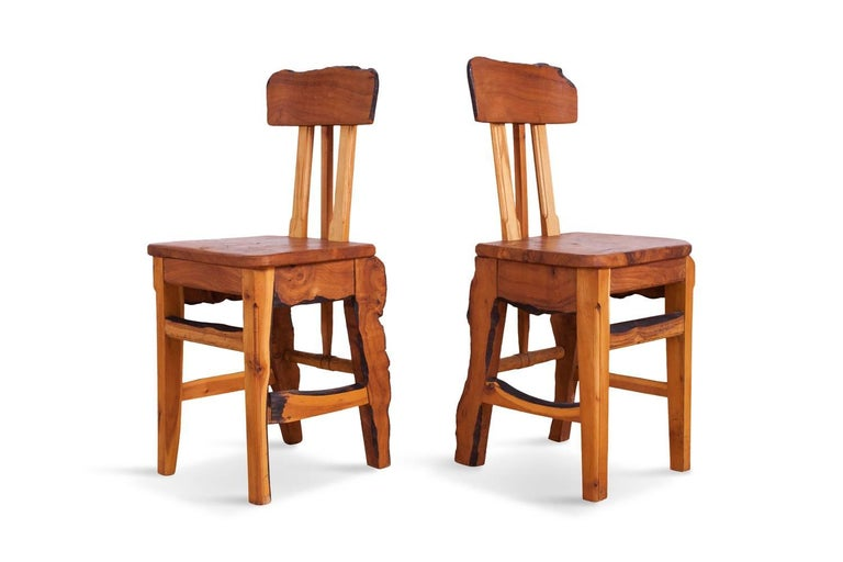 Mid-Century Modern Wabi Sabi Dining Table and Chairs in the Style of Nakashima 10
