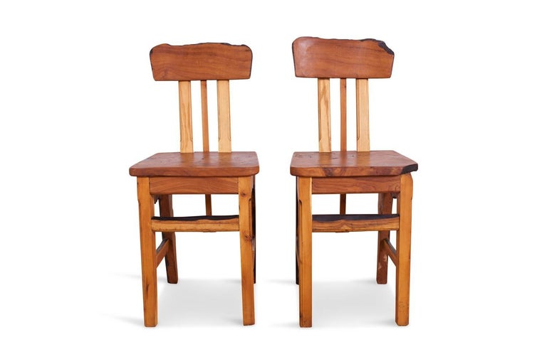 Mid-Century Modern Wabi Sabi Dining Table and Chairs in the Style of Nakashima 12