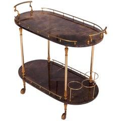 Aldo Tura Lacquered Bar Cart