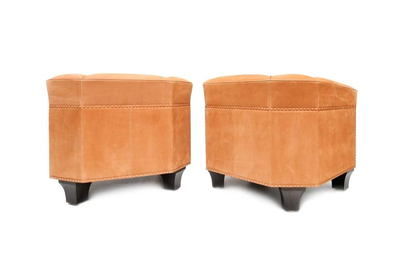 Pair of cognac suede club chairs palais stoclet josef hoffmann at 1stdibs - Canape cognac ...