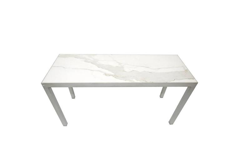 French CARRARA MARBLE Console STARCK For Sale