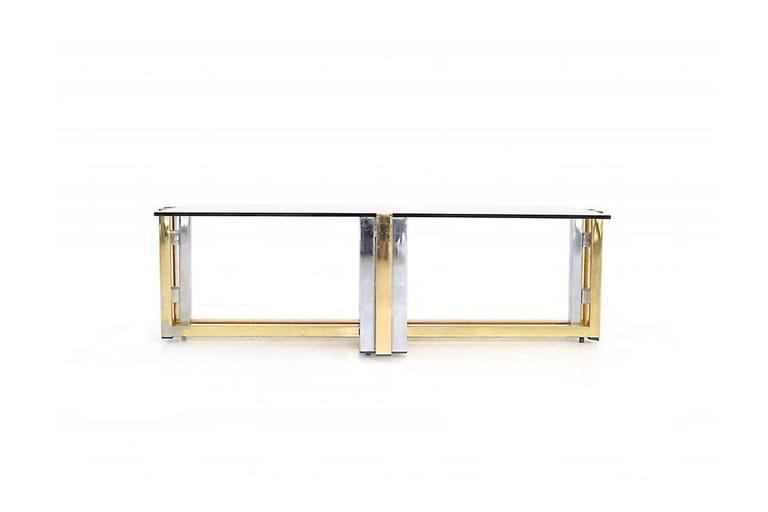 Modern BRASS & CHROME COFFEE Table