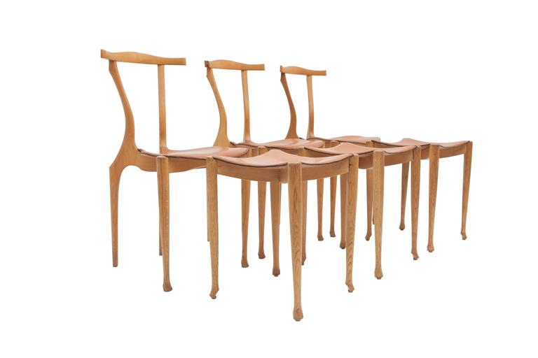 Other Oscar Tusquets Gaulino Oak Chair and Ottoman For Sale