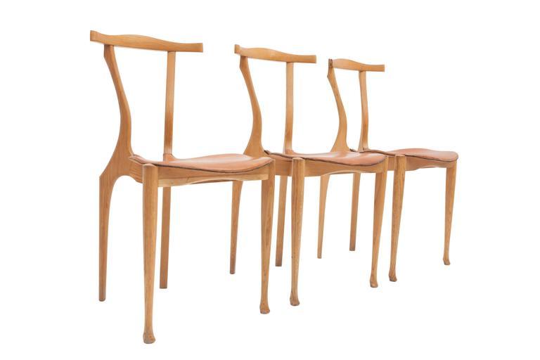 Oscar Tusquets Gaulino Oak Chair and Ottoman For Sale 1