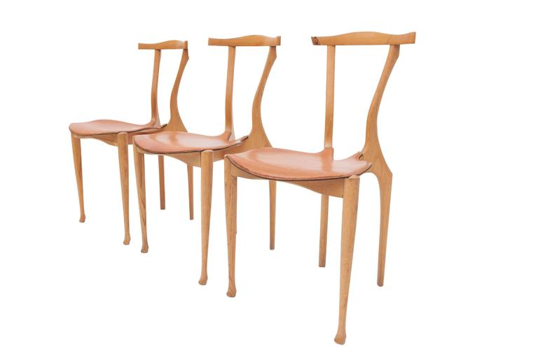 Oscar Tusquets Gaulino Oak Chair and Ottoman For Sale 2