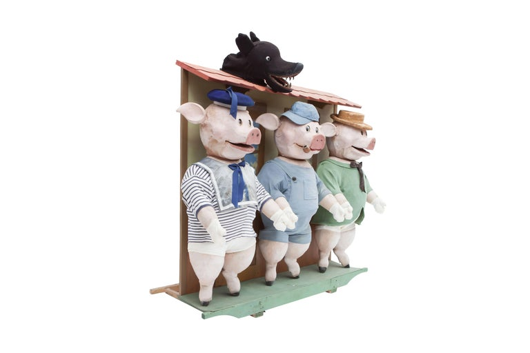 Other Decorative puppetry displaying Joseph Jacobs fable Three Little Pigs 1930 For Sale