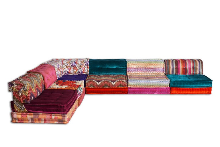 Modern Mah Jong Modular Composition Missoni Sofa For
