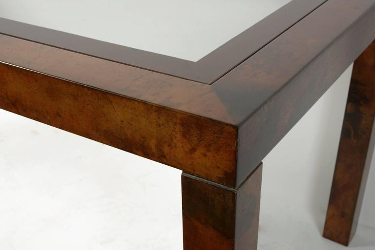 Aldo Tura Lacquered Goatskin Center or Dining Table 2