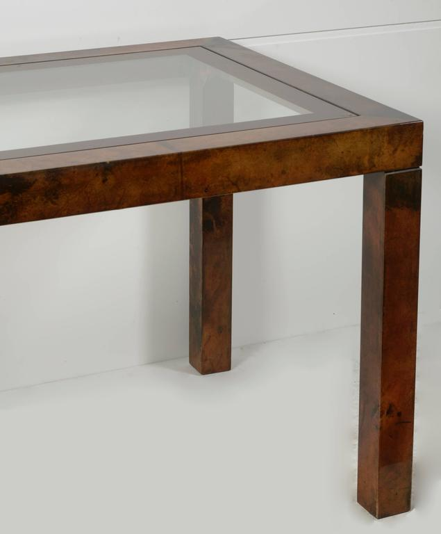 Aldo Tura Lacquered Goatskin Center or Dining Table 4