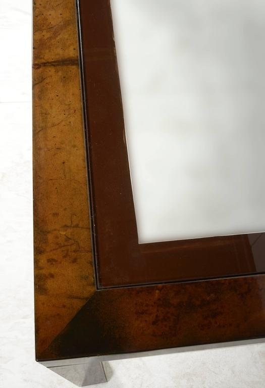 Aldo Tura Lacquered Goatskin Center or Dining Table 5