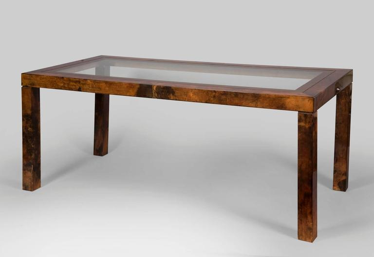 Aldo Tura Lacquered Goatskin Center or Dining Table 6