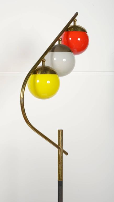 Brass 1960s Italian Floor Lamp For Sale