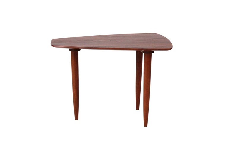 Wood Pair of Walnut Side Tables by Ace-Hi For Sale