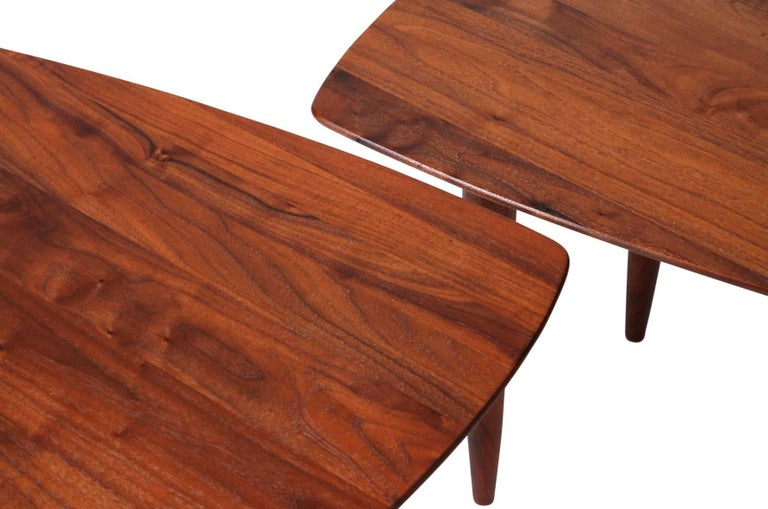 Pair of Walnut Side Tables by Ace-Hi For Sale 3