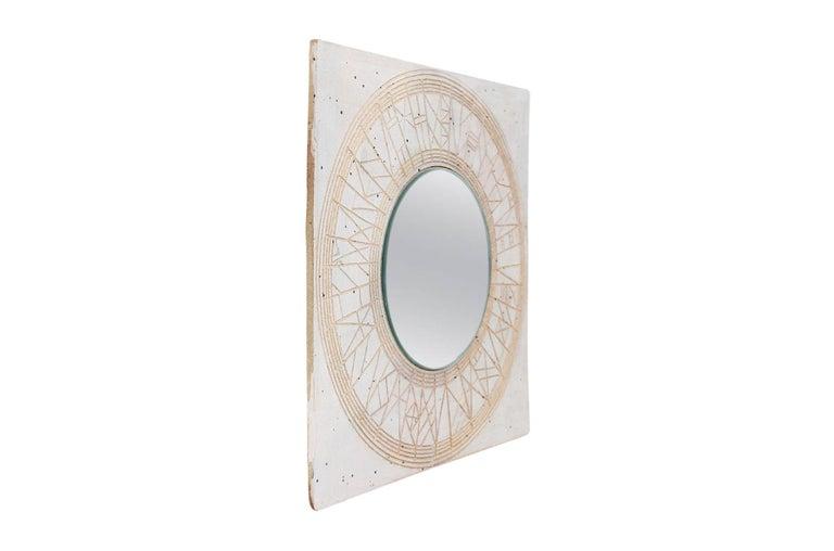Mid-Century Modern William Wyman Studio Pottery Mirror For Sale