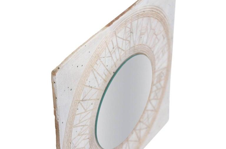 American William Wyman Studio Pottery Mirror For Sale