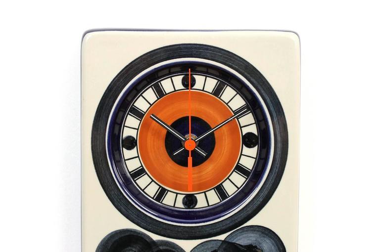 Scandinavian Modern Rorstrand Ceramic Clock Designed by Marianne Westman For Sale