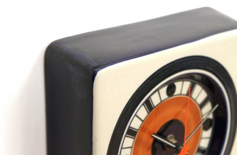 Mid-20th Century Rorstrand Ceramic Clock Designed by Marianne Westman For Sale
