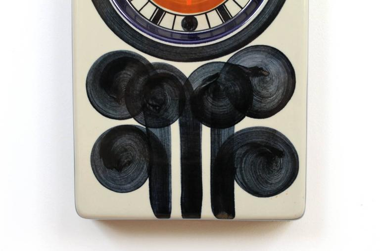 Rorstrand Ceramic Clock Designed by Marianne Westman In Excellent Condition For Sale In Belmont, MA