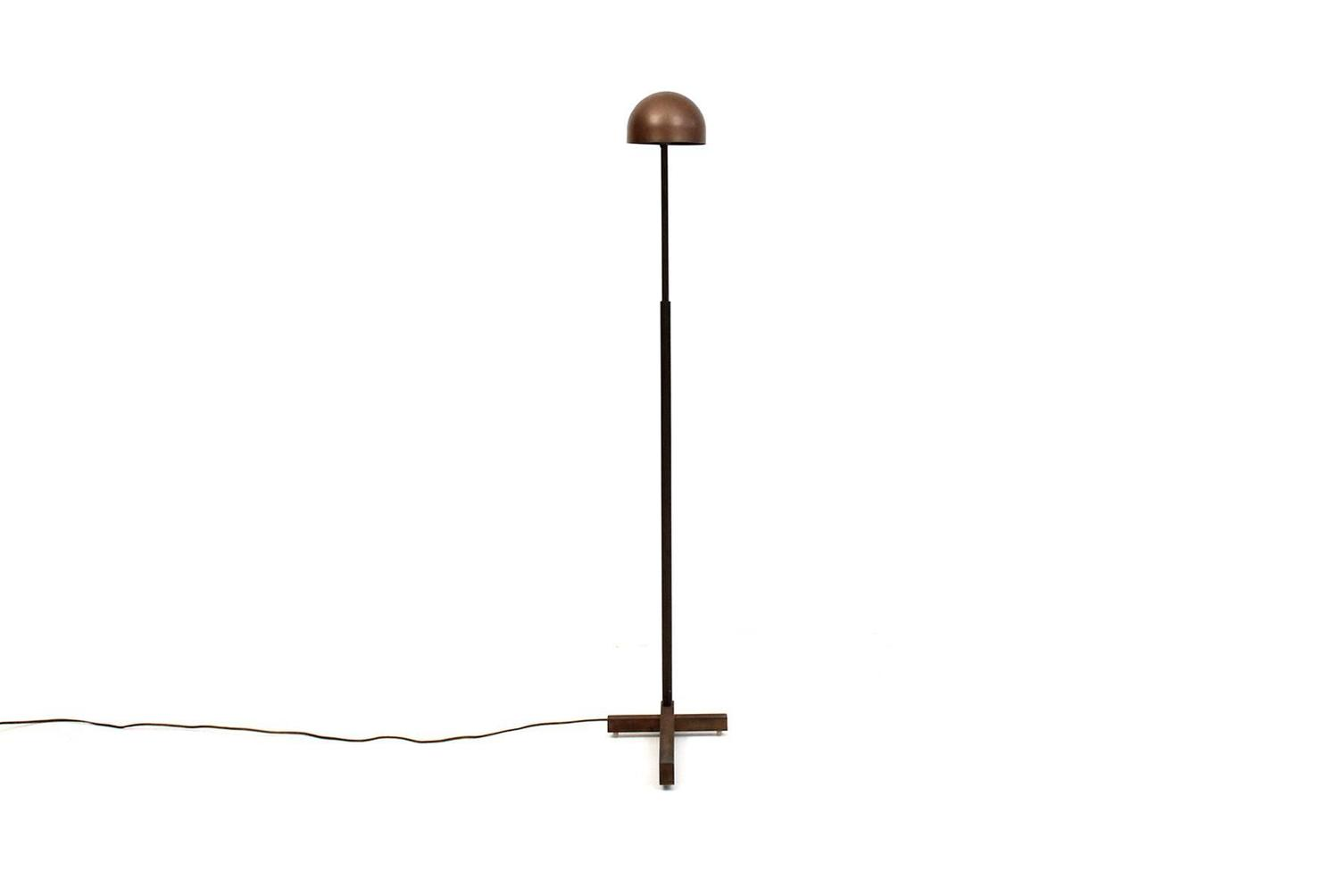 Adjustable bronze floor lamp by casella at 1stdibs for Bronze floor lamp base only
