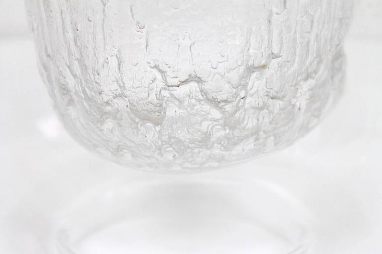 """Large Timo Sarpaneva Iittala """"Finlandia"""" Glass Bowl In Excellent Condition For Sale In Belmont, MA"""