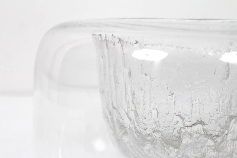 "Mid-20th Century Large Timo Sarpaneva Iittala ""Finlandia"" Glass Bowl For Sale"