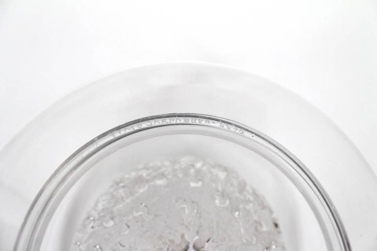 """Large Timo Sarpaneva Iittala """"Finlandia"""" Glass Bowl For Sale 4"""