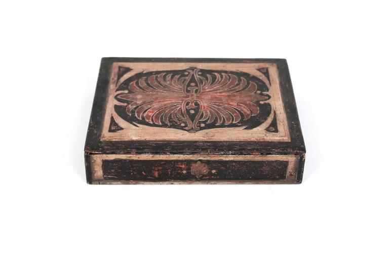 Mid-Century Modern Carved Max Kuehne Box For Sale
