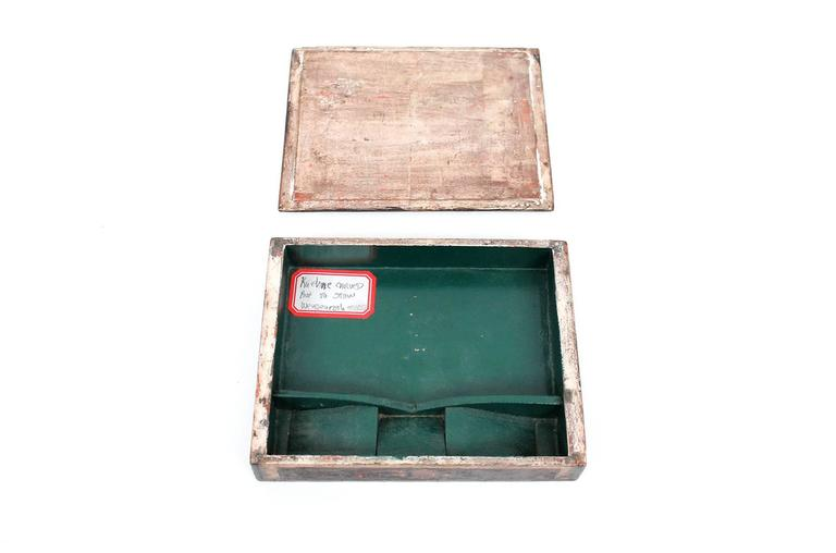 Paint Carved Max Kuehne Box For Sale