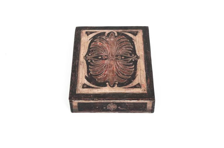 American Carved Max Kuehne Box For Sale